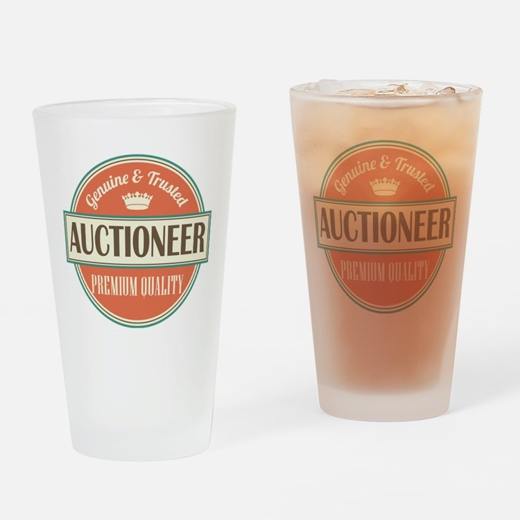 auctioneer Drinking Glass