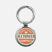 auctioneer Round Keychain