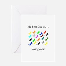 Best Day Loving Cats Gifts Greeting Cards