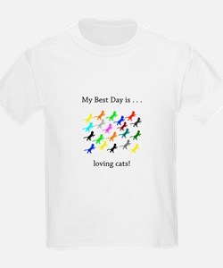 Best Day Loving Cats Gifts T-Shirt
