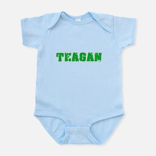Teagan Name Weathered Green Design Body Suit