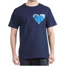 Snow Heart Pocket Image T-Shirt