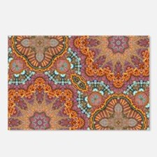 turquoise orange bohemian Postcards (Package of 8)