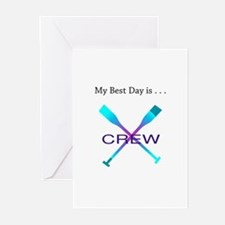 Best Day Rowing Crew Gifts Greeting Cards