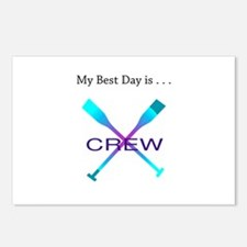 Best Day Rowing Crew Gifts Postcards (Package of 8