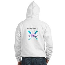 Best Day Rowing Crew Gifts Hoodie