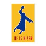 Jesus He is Risen! Rectangle Sticker