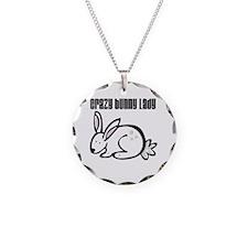 Crazy Bunny Lady Necklace