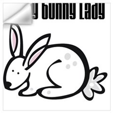 Crazy Bunny Lady Wall Decal