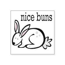 "nice buns bunny Square Sticker 3"" x 3"""