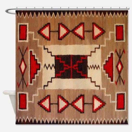 Indian Blanket 8 Shower Curtain