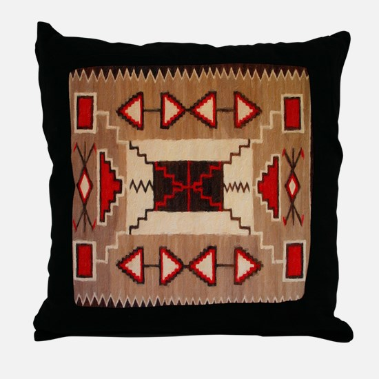 Indian Blanket 8 Throw Pillow