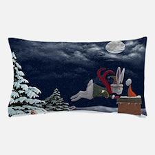 White Rabbit Christmas Pillow Case