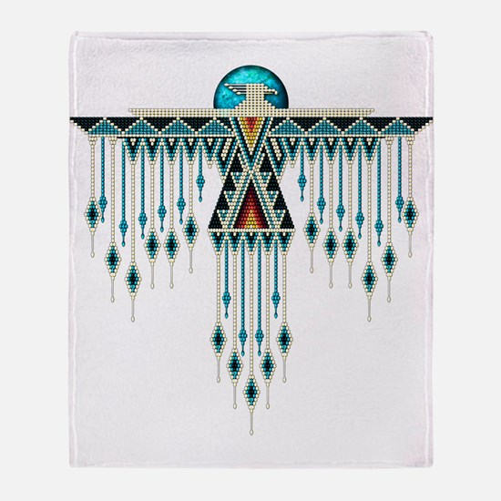Southwest Native Style Thunderbird Throw Blanket