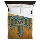 Southwest native thunderbird Luxe Full/Queen Duvet Cover