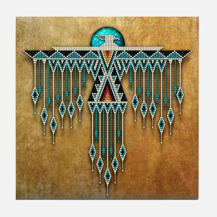 Southwest Native Style Thunderbird Tile Coaster