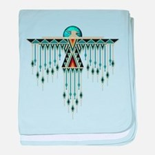 Southwest Native Style Thunderbird baby blanket