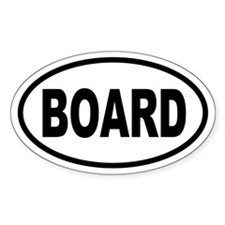 Basic Snowboarding Oval Decal