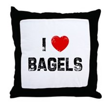 I * Bagels Throw Pillow