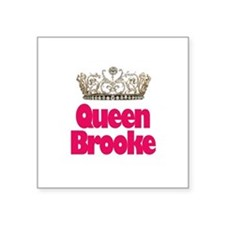 "Unique Brooke Square Sticker 3"" x 3"""