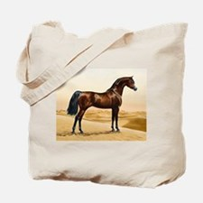Vintage Arabian Horse Painting by William Tote Bag
