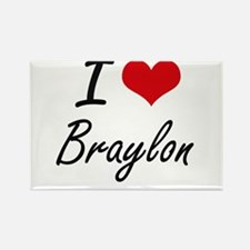I Love Braylon Magnets