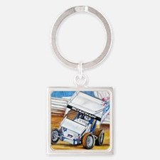 Coming in hot! Square Keychain