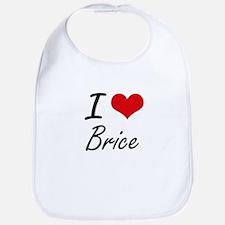 I Love Brice Bib