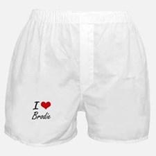 I Love Brodie Boxer Shorts