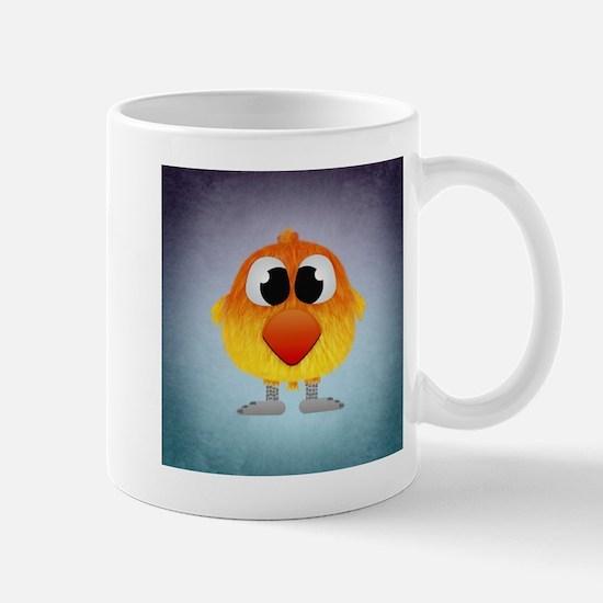 Lovely Little Orange And Yellow Bird Mugs