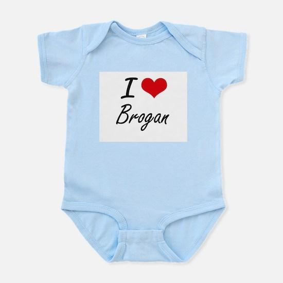 I Love Brogan Body Suit
