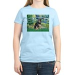 Bridge-Aussie Shep - Tri (L) Women's Light T-Shirt