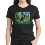 Bridge-Aussie Shep - Tri (L) Women's Dark T-Shirt