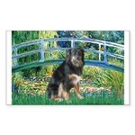 Bridge-Aussie Shep - Tri (L) Sticker (Rectangle)