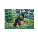 Bridge-Aussie Shep - Tri (L) Rectangle Magnet (10