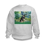 Bridge-Aussie Shep - Tri (L) Kids Sweatshirt