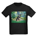 Bridge-Aussie Shep - Tri (L) Kids Dark T-Shirt