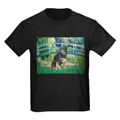 Bridge-Aussie Shep - Tri (L) Kids Dark T-Shirt