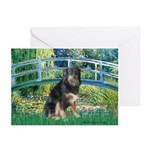 Bridge-Aussie Shep - Tri (L) Greeting Cards (Pk of