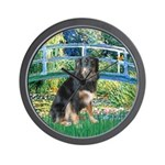 Bridge-Aussie Shep - Tri (L) Wall Clock