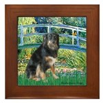 Bridge-Aussie Shep - Tri (L) Framed Tile