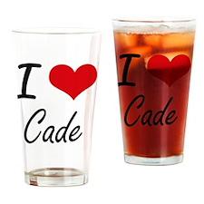 I Love Cade Drinking Glass