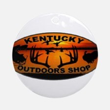 Kentucky Outdoors Shop Logo Round Ornament