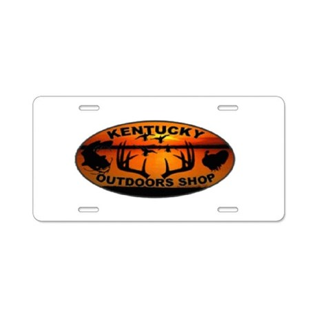 Kentucky outdoors shop logo aluminum license plate by for Kentucky out of state fishing license