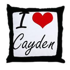 I Love Cayden Throw Pillow