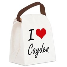I Love Cayden Canvas Lunch Bag