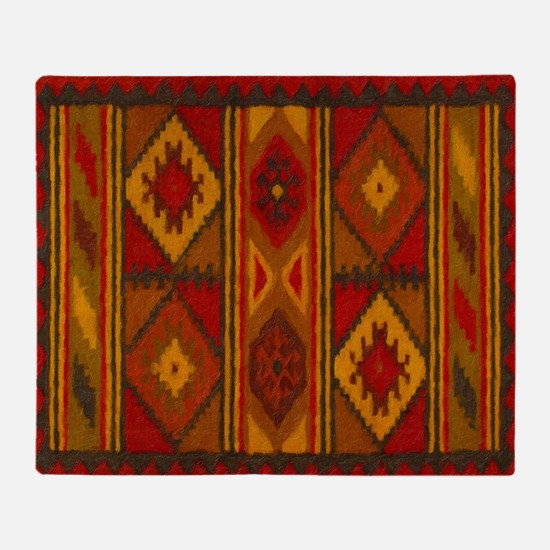 Indian Blanket 5 Throw Blanket