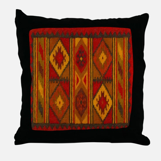 Indian Blanket 5 Throw Pillow