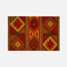 Indian Blanket 5 Rectangle Magnet