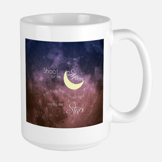 Motivational Les Brown Shoot for the Moon Mugs